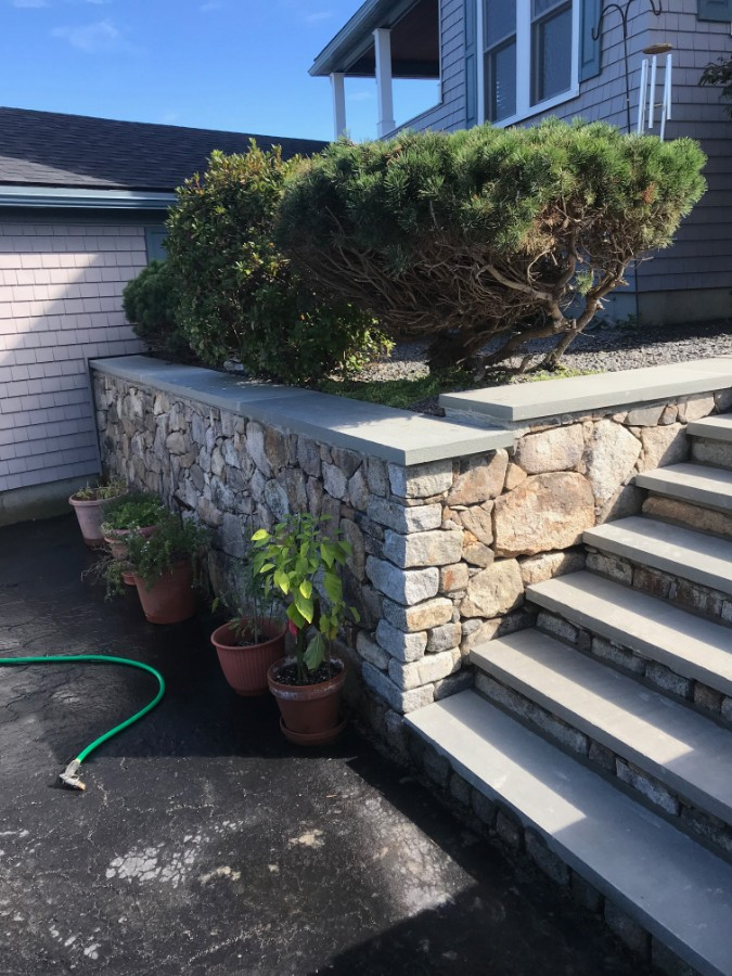 Stone Wall & Stairs Replaced by RD Masonry & Landscape